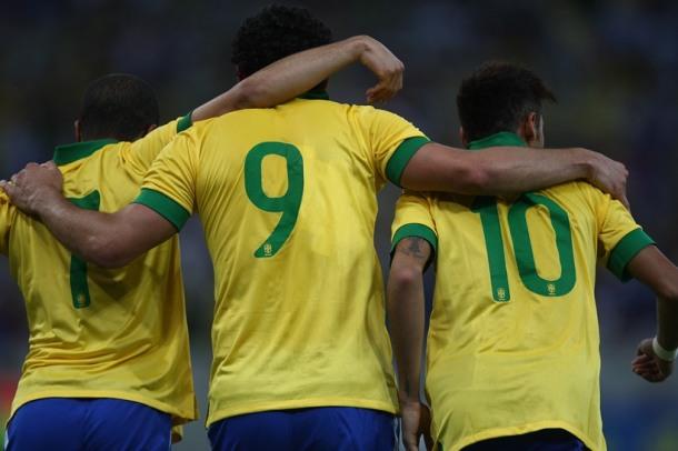 Fred durante o Jogo do Brasil com a Inglaterra, 2 de Junho de 2013. MOWA PRES